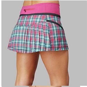 Lululemon Run Reflection Skirt Senorita Pink Plaid